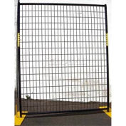 Welded Wire Black Powder Coat Fence - 5'Wx6'H 8 Panel Kit