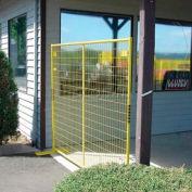 "Perimeter Patrol™ Welded Wire Yellow Powder Coat Fence - 7'6""Wx6'H 4 Panel Kit"
