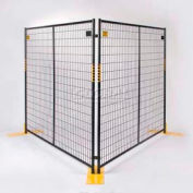"Perimeter Patrol™ Welded Wire Black Powder Coat Fence - 7'6""Wx6'H 8 Panel Kit"