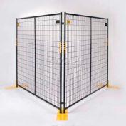"Perimeter Patrol™ Welded Wire Black Powder Coat Fence - 7'6""Wx6'H 12 Panel Kit"