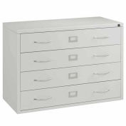 Interion™ Media Cabinet 4 Drawer Putty