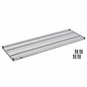 Nexelon™ Wire Shelf 72x24 With Clips
