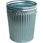 Galvanized Garbage Can - 24 Gallon Heavy Duty - WHD24C