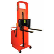 """Wesco® Battery Powered Lift Counter Balanced Stacker 261039 56""""H 30"""" Forks"""