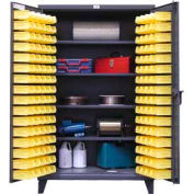 Strong Hold® Heavy Duty Bin Cabinet 46-BS-244 - With 144 Bins 48x24x78