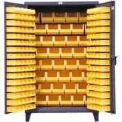 Strong Hold® Heavy Duty Bin Cabinet 36-BB-240 - With 126 Bins 36x24x78