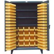 Strong Hold® Heavy Duty Bin Cabinet 36-BBS-243 - With 110 Bins 36x24x78