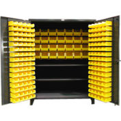 Strong Hold® Heavy Duty Bin Cabinet 56BBS-362FLP -  With 160 Bins 60x36x78