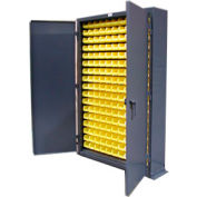 Strong Hold® Heavy Duty Slim Line Bin Cabinet 46-BSC-100 - With 187 Bins 48x10x72