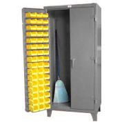 Strong Hold® Heavy Duty Long Tool Bin Cabinet 36-BSC-240DBP - With 94 Bins 36x24x78