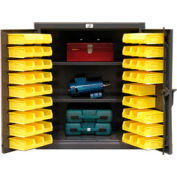 Strong Hold® Heavy Duty Counter Top Bin Cabinet 33.5-BS-202 - With 52 Bins 36x20x42