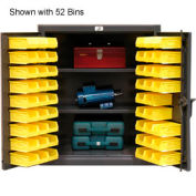 Strong Hold® Heavy Duty Counter Top Bin Cabinet 43-BS-242 - With 63 Bins 48x24x36