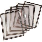 Tarifold® Pivoting Pocket Packs, 10 Pockets/Pack, Black