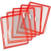 Tarifold® t-technic Pivoting Pocket Packs, 10 Pockets/Pack, Red