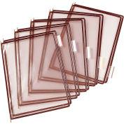 Tarifold® Pivoting Pocket Packs, 10 Pockets/Pack, Brown