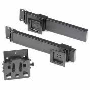 Double Arm Kit with 3 VESA Mounts For Orbit Workstation - Black