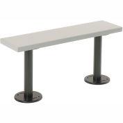 "Plastic Locker Bench with Aluminum Pedestals Bolt Down 9-1/4"" X 48"" X 16-1/2"""