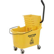 Global Industrial™ Mop Bucket And Wringer Combo, Side Press, Yellow