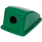 "Global™ Recycling Bottle & Can Lid - Green 13""W x 18""D x 9""H"