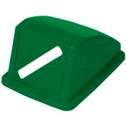 "Global Industrial™ Recycling Paper Lid - Green 13""W x 18""D x 9""H"