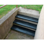 "Outdoor Recycled Rubber Stair Tread 48""W Black"