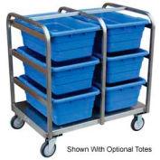 """Jamco Stainless Steel Lug Tote Cart YA236-U5-AS - All Welded 6 Lug Tote Capacity, 36""""L x 26""""W x 38""""H"""