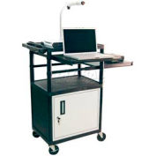 "Luxor Security AV Cart with Pull-Out Laptop & Side Shelves 42""H"
