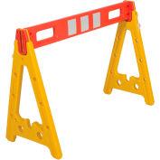 "Portable Plastic A-Frame Style Barricade 44-1/2"" With 1 Rail"