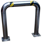 """Stainless Steel High Profile Machinery Guard 36"""" L x 42"""" H x 4-1/2"""" Dia"""
