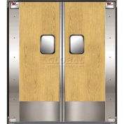 TMI Double Restaurant Swinging Door 6 x 7 Wood Laminate & Kick Plate 300-00347
