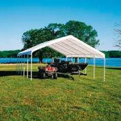 """Shelterlogic Super Max™ Canopy 26767, 18'W X 30'L, 2"""" Frame, 12-Leg, White"""