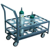 "Jamco Oxygen & Medical Cylinder Cart KJ024 24 Type D & E Tanks 5"" Thermorubber Casters"