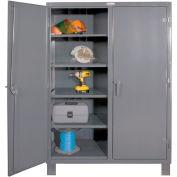 "Durham Heavy Duty Double Shift Storage Cabinet HDDS244878-8S95 - 12 Gauge 48""W x 24""D x 78""H"