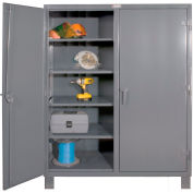"Durham Heavy Duty Double Shift Storage Cabinet HDDS246078-8S95 - 12 Gauge 60""W x 24""D x 78""H"
