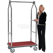 Aarco Easy-Roll Chrome Bellman Hotel Luggage Cart LC-2C 42 x 24