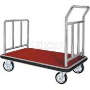 Aarco Deluxe Chrome Luggage Platform Cart FB-1C 42 x 24