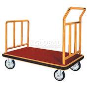 Aarco Deluxe Brass Luggage Platform Cart FB-1B 42 x 24