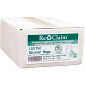 White Recycled Kitchen Bags - 13 Gallon, 0.80 Mil, 150/Case