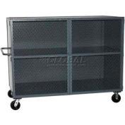 Jamco Mesh Door Security Truck VH348 48 x 32 2 Fixed Shelves 3000 Lb. Cap.