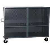 Jamco Mesh Door Security Truck VK348 48x32 1 Fixed & 1 Adjustable Shelf 3000 Lb. Cap.