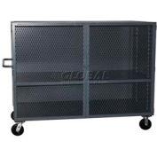 Jamco Mesh Door Security Truck VK360 60x32 1 Fixed & 1 Adjustable Shelf 3000 Lb. Cap.