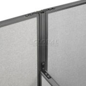 """High-Low Three Way Kit For Two 76"""" High Panel With Cable"""
