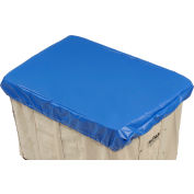 HG Maybeck Hamper Basket Cap, 10 Oz. Vinyl, 16 Bushel, Blue