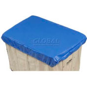 HG Maybeck Hamper Basket Cap, 10 Oz. Vinyl, 18 Bushel, Blue