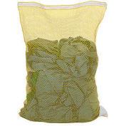 Mesh Bag W/ Nylon Zipper Closure, Yellow, 24x36, Heavy Weight - Pkg Qty 12