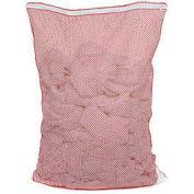 Mesh Bag W/ Nylon Zipper Closure, Red, 18x24, Medium Weight - Pkg Qty 12