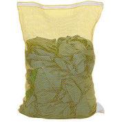 Mesh Bag W/ Nylon Zipper Closure, Yellow, 30x40, Heavy Weight - Pkg Qty 12