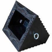 "Vestil Serrated Steel Base Rubber Wheel Chock RWC-8-SBS - 9-1/2""L x 8""W x 6""H"
