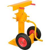 Hand Crank Trailer Jack Stand 100,000 Lb. Static Cap. Semi-Pneumatic Wheels