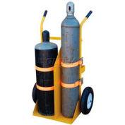 Vestil Welding Cylinder Cart CYL-E-FF Foam Filled Wheels 34-1/4 x 22-13/16